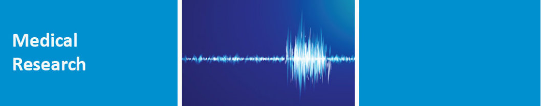 Medical Research banner with sound wave pic