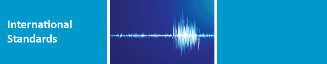 International Standards Banner with sound wave pic